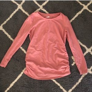MATERNITY pink long sleeve top